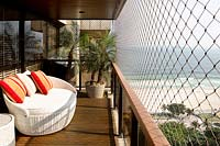 Balcony overlooking beach