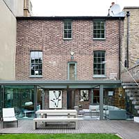 Georgian house with contemporary extension