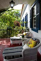 Colourful veranda