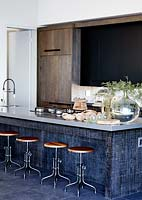 Contemporary kitchen island with breakfast bar