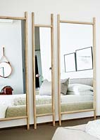 Large mirrors in bedroom