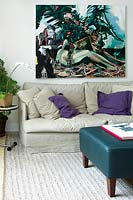 Modern painting in living room