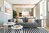 Modern open plan living space