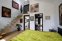 Bedroom with staircase