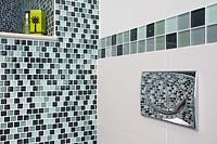 Mosaic tiling in shower enclosure