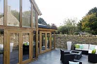 Modern extension and patio