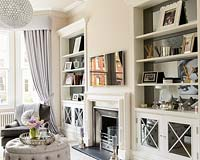 Shelving in alcoves