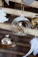 Modern christmas baubles