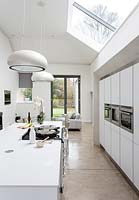 Open plan kitchen and seating area