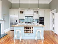 Kitchen island with wine storage
