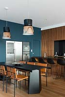 Contemporary kitchen and dining area
