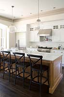Kitchen island with breakfast bar