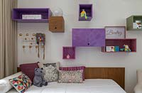 Childs bed with storage above