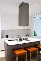Kitchen island with gas hob