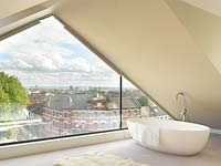 Bath with city views