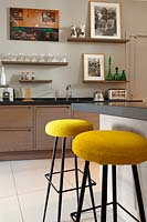 Yellow barstools