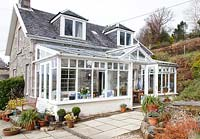 Country house and conservatory