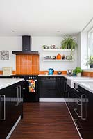 Black kitchen units