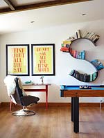 Games room, posters by Anthony Burrill
