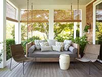 Modern furniture on veranda
