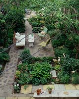 Garden viewed from above
