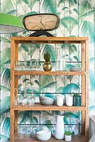 Wooden shelving