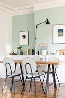 Retro chairs at dining table