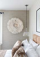 Modern bedroom detail