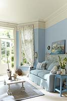 Blue living room