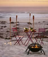 Barbeque on beach