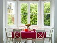 Dining area with bay window