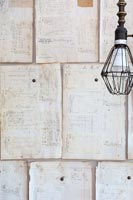 Recycled wall covering
