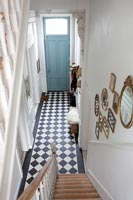 Patterned flooring in entrance hall