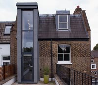 Traditional house with contemporary extension