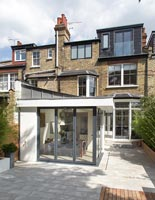 Edwardian house with contemporary extension