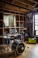 Drum kit in music room