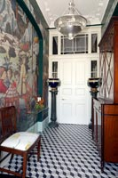 Entrance hall with mural