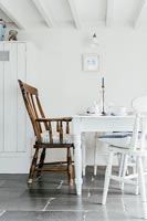 Dining area with white furniture
