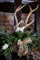 Christmas decoration with antlers