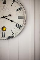 Detail of vintage wall clock