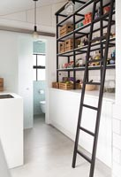 Modern kitchen storage shelves