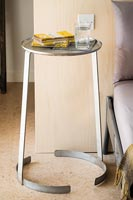 Small circular bedside table