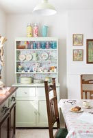 Painted dresser in country dining room