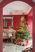 Maxine and Charles Taylor Christmas home - feature portrait