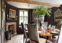 Brown country dining room