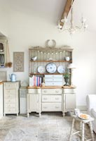 Dresser painted in muted tones
