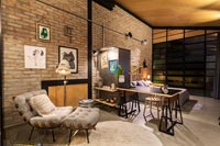 Small open plan industrial style apartment