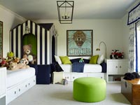Bold colours in childrens room