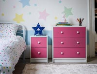 Modern pink chest of drawers