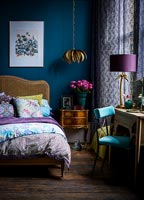 Colourful eclectic bedroom